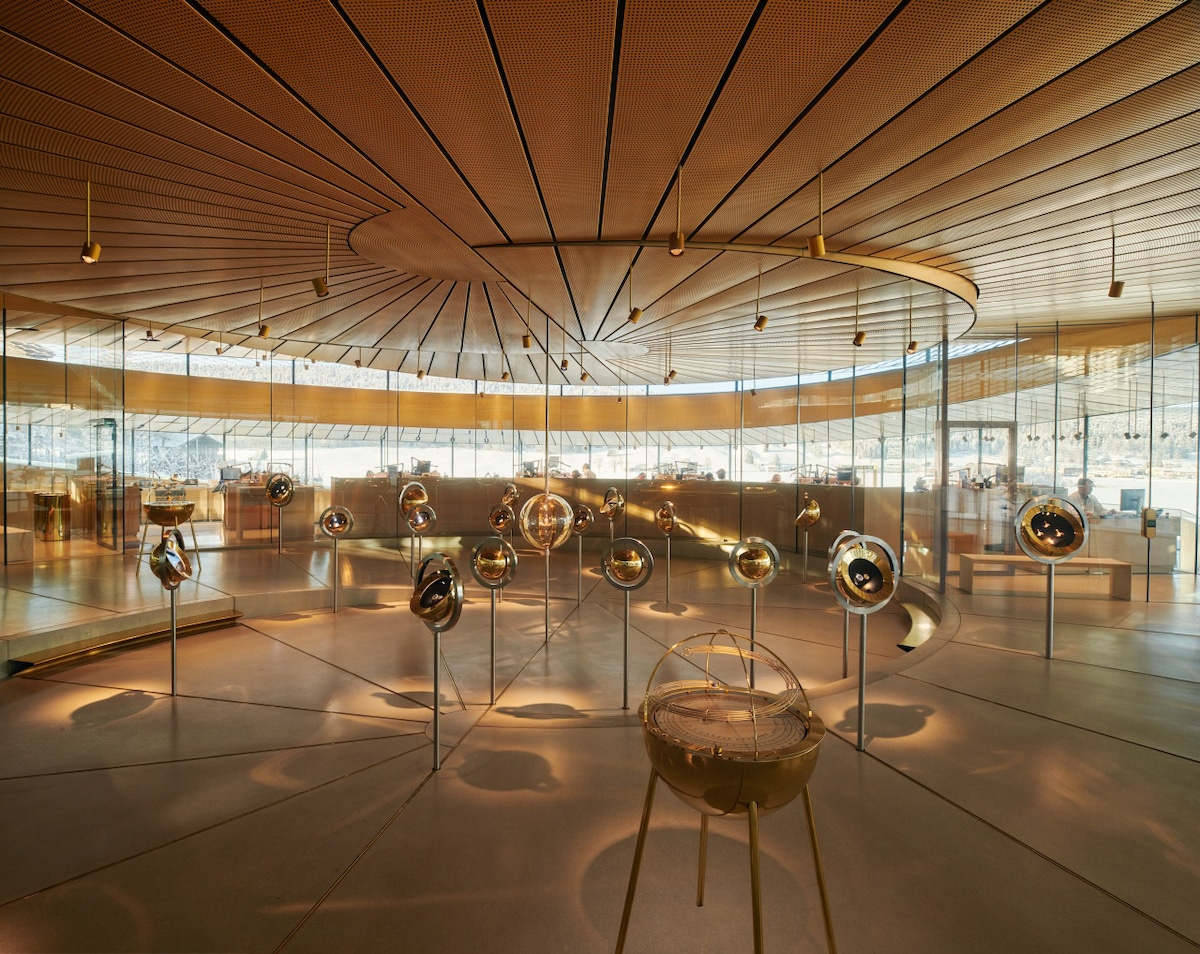Interior of the Musée Atelier Audemars Piguet by Bjarke Ingels Group
