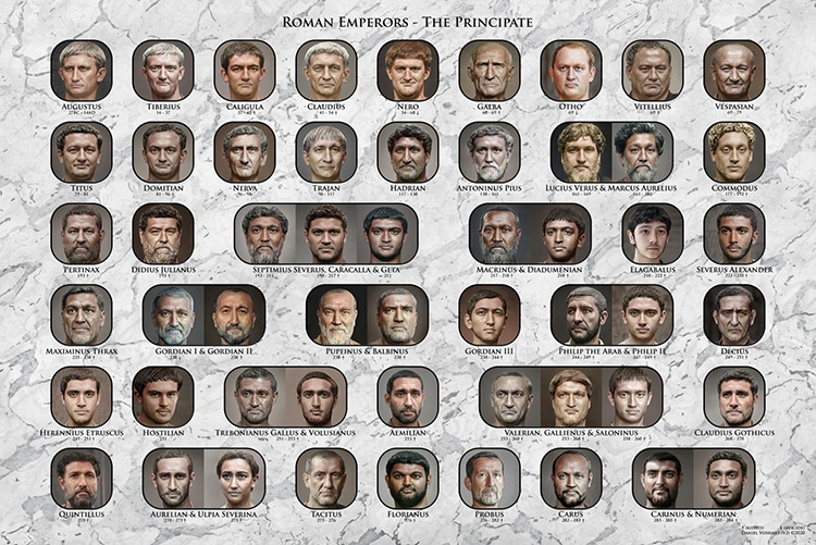 Poster of Roman Emperors By Daniel Voshart
