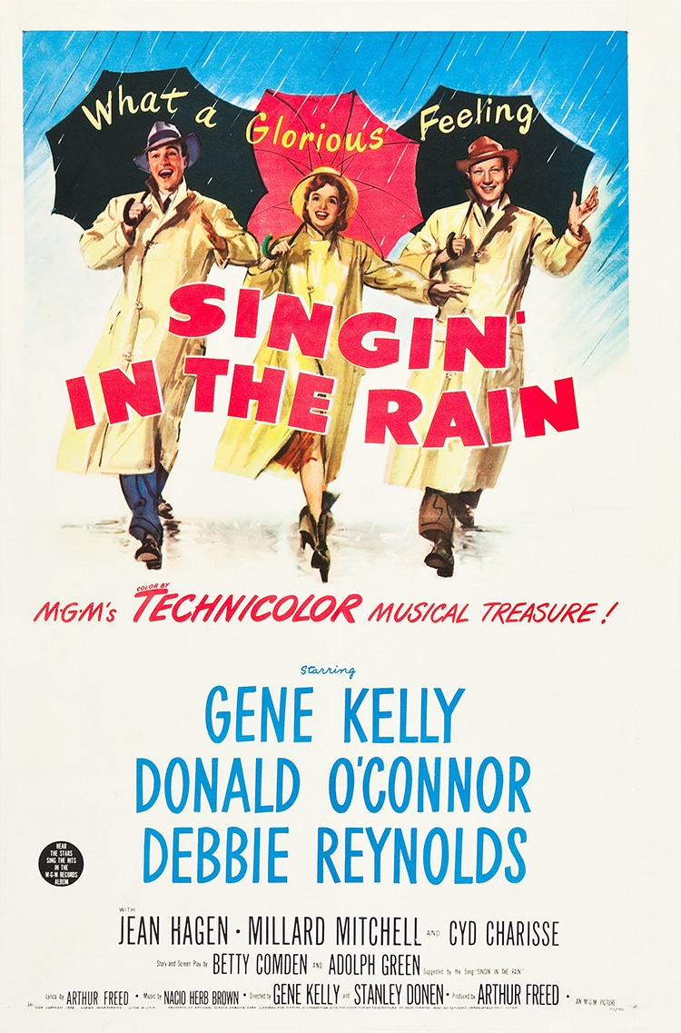 Technicolor Singing In The Rain Poster