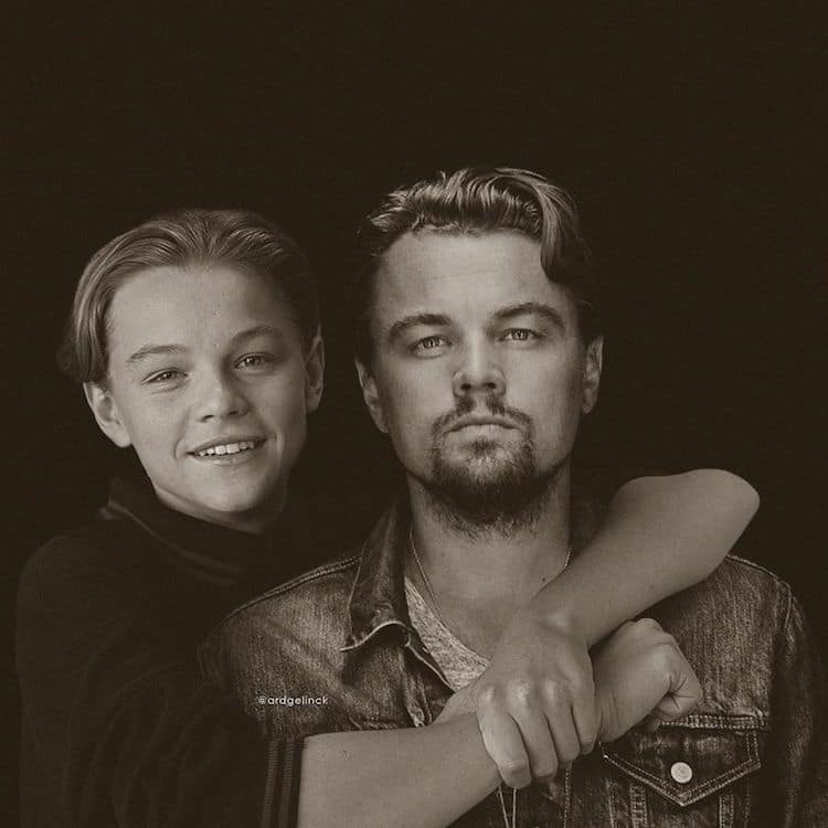 Actors Photoshopped Next to Their Younger Selves by Ard Gelinck