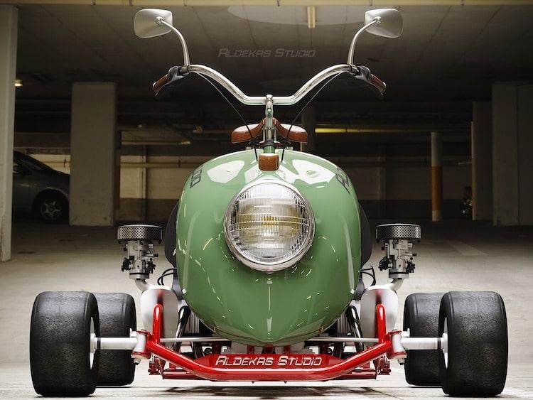 Render de mini moto VW Beetle
