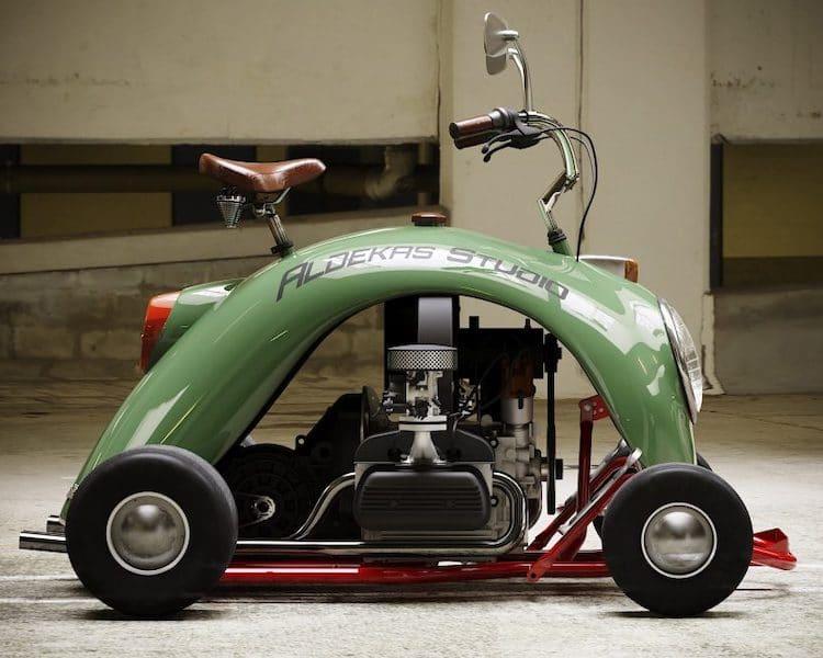 Rendering of Volkswagen Beetle Mini Kart