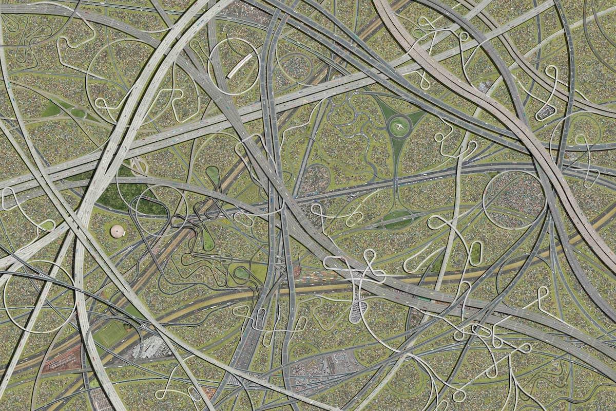 fotomontaje de carreteras