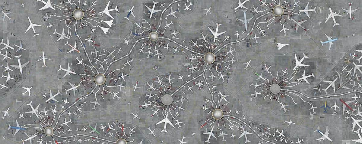 Crowds of Planes at an Airport