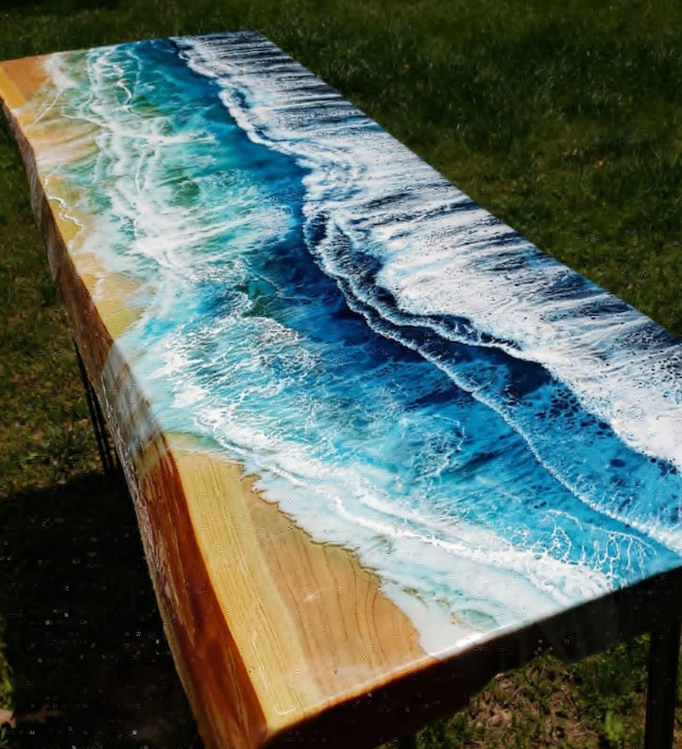 Wood and Resin Art by Chessie Goes Wild Art