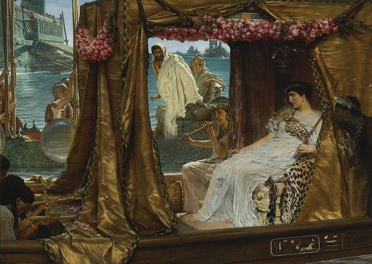 El encuentro de Marco Antonio y Cleopatra