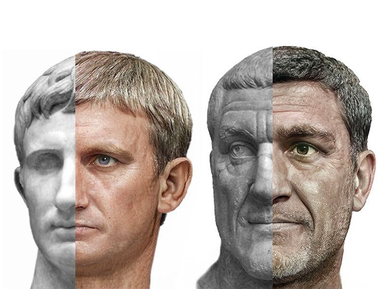 AI Art of Roman Rulers