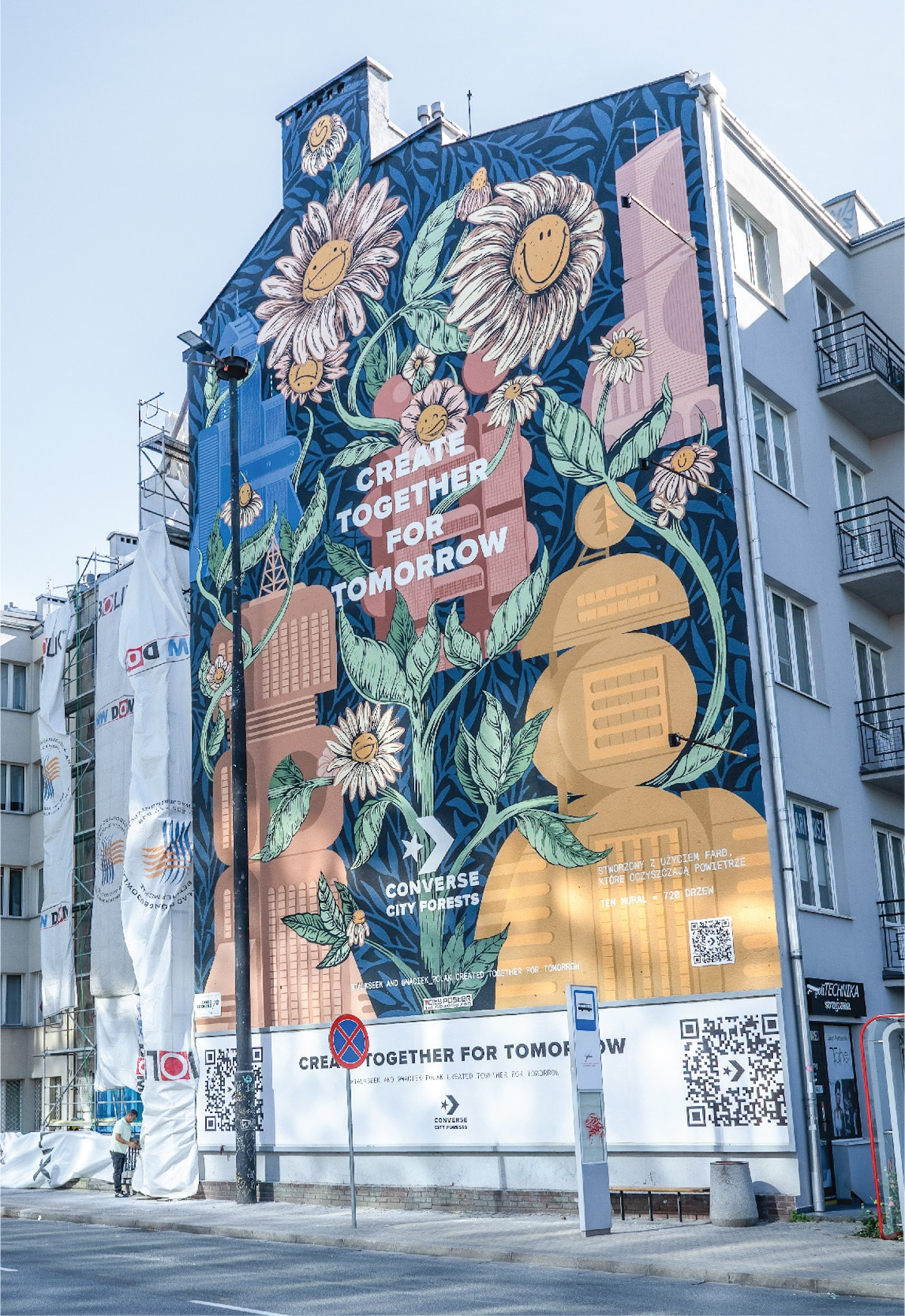 Converse Environmentally Friendly Mural in Warsaw