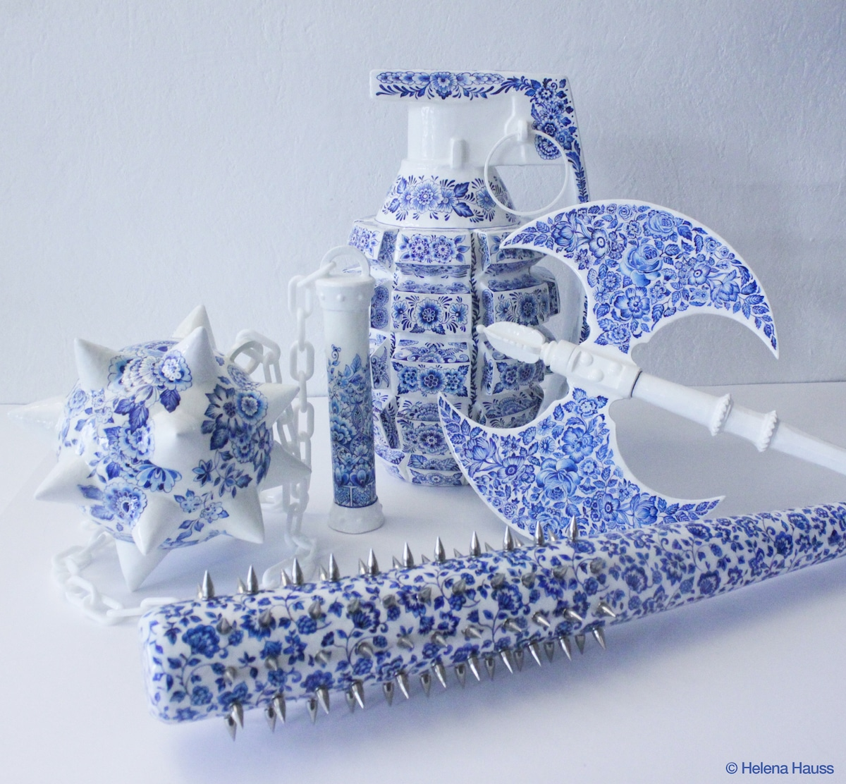 Delftware Porcelain Weapons by Helena Hauss