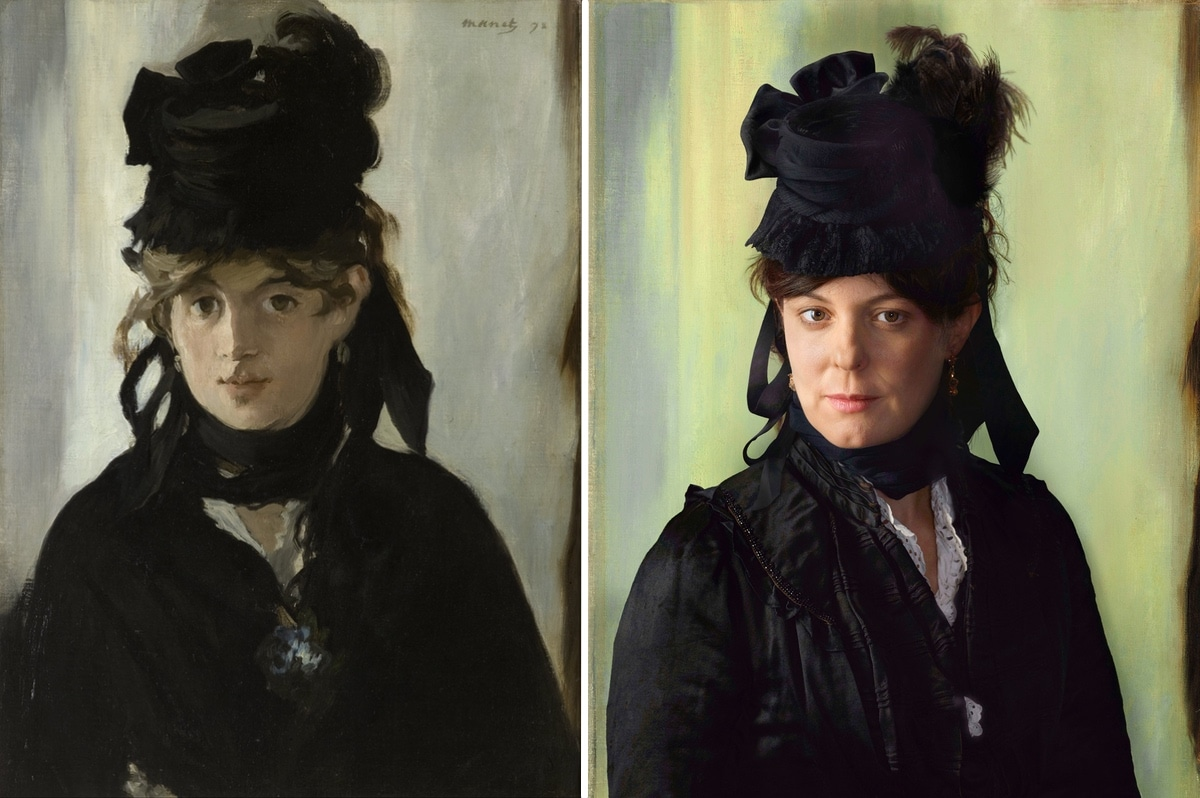 Berthe Morisot Portrait Next to Her Descendent