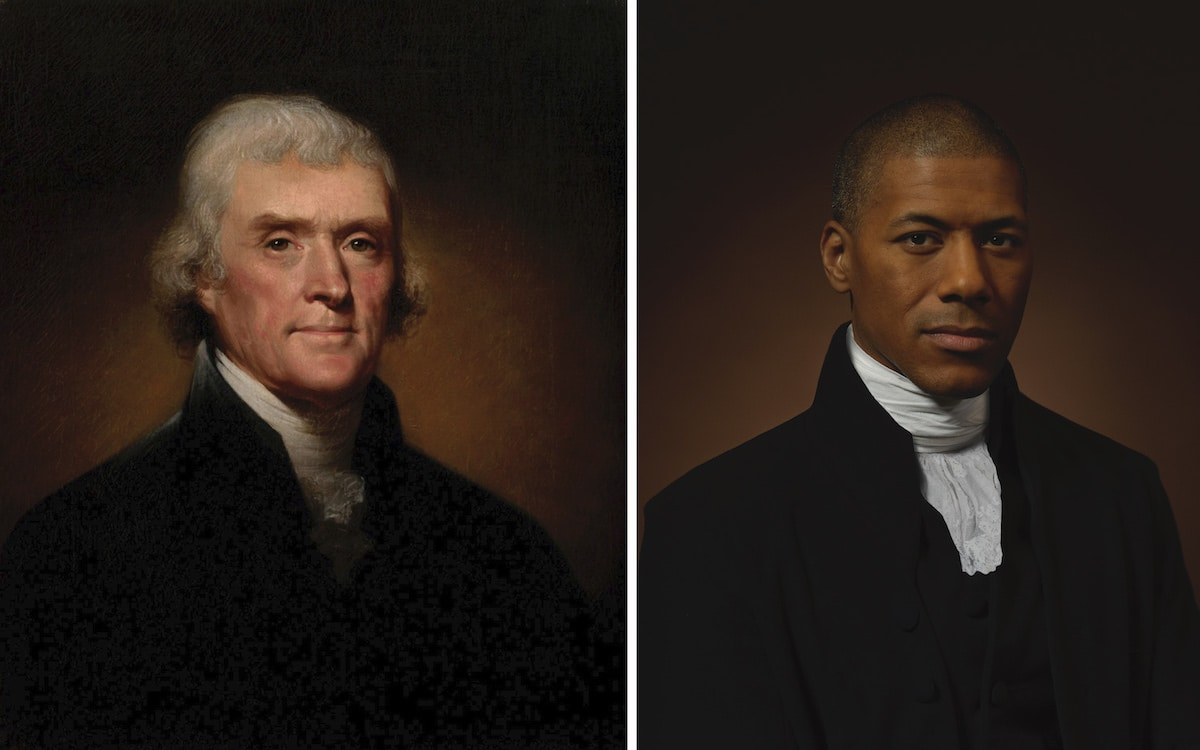 Thomas Jefferson and His Sixth Great Grandson Shannon Lanier