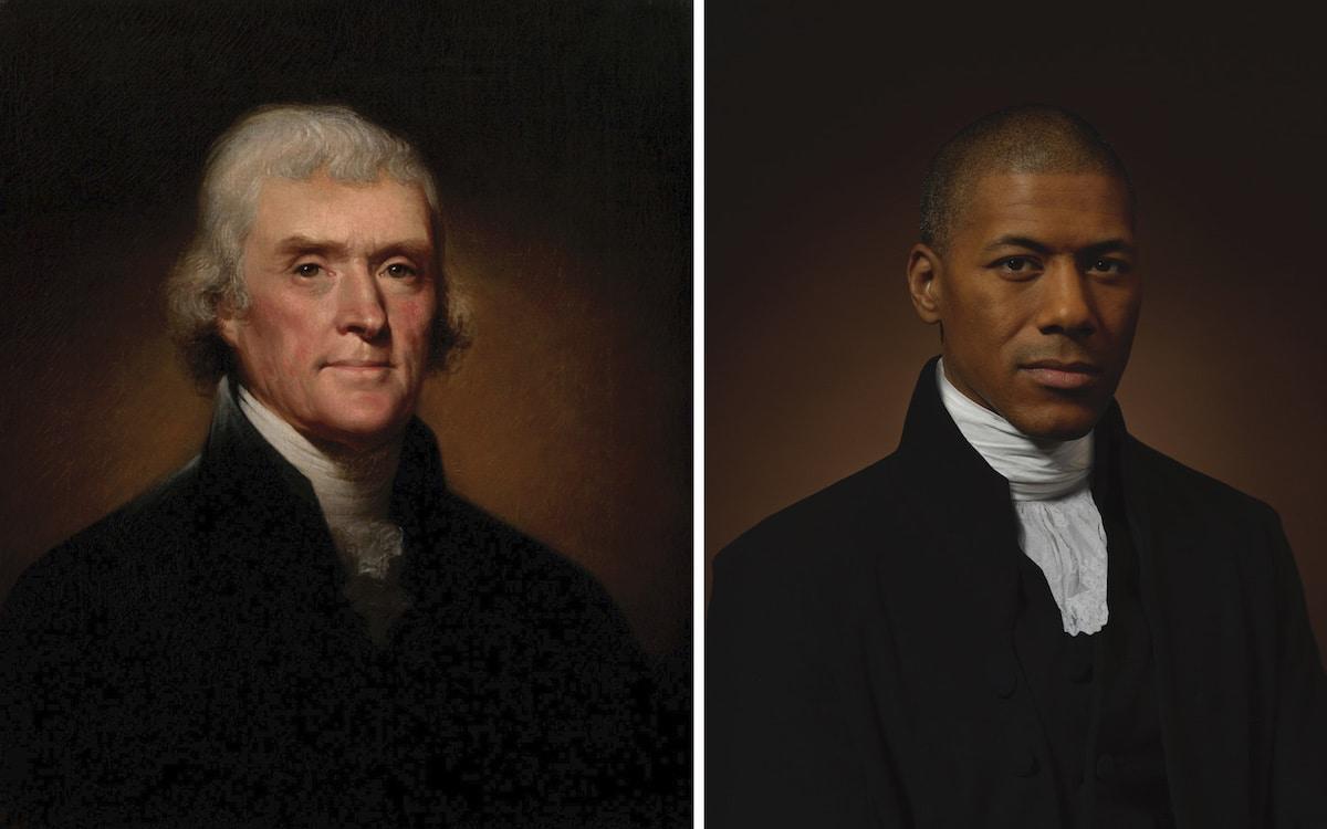Thomas Jefferson y su nieto en sexta generación, Shannon Lanier