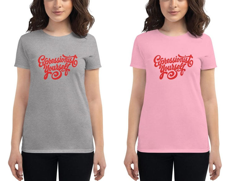 'Expressionist Yourself' T-Shirt for Women