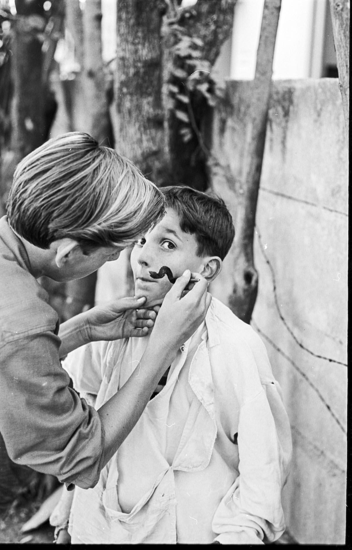 Child Getting His Face Painted