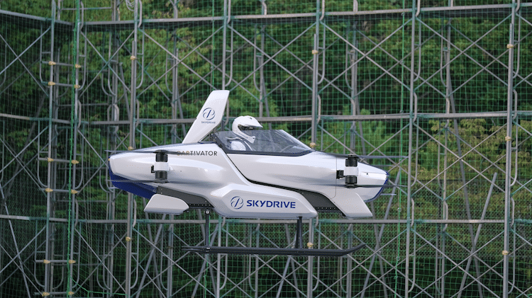 SkyDrive eVTOL in Flight