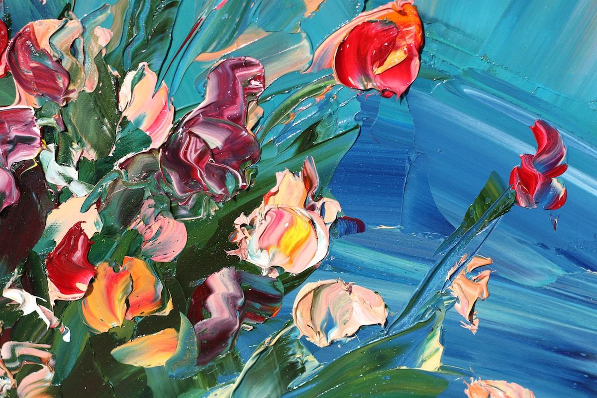 pinturas con espatula por Krista Schumacher
