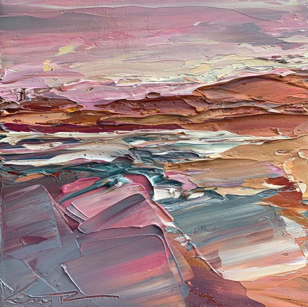 Palette Knife Painting by Krista Schumacher