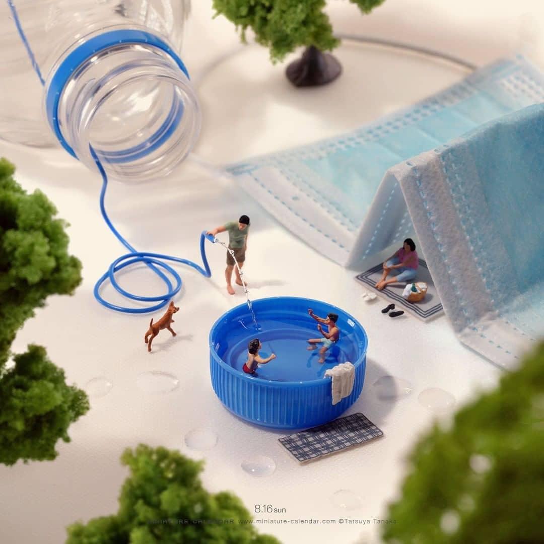 COVID-19-Themed Miniature Art by Tatsuya Tanaka