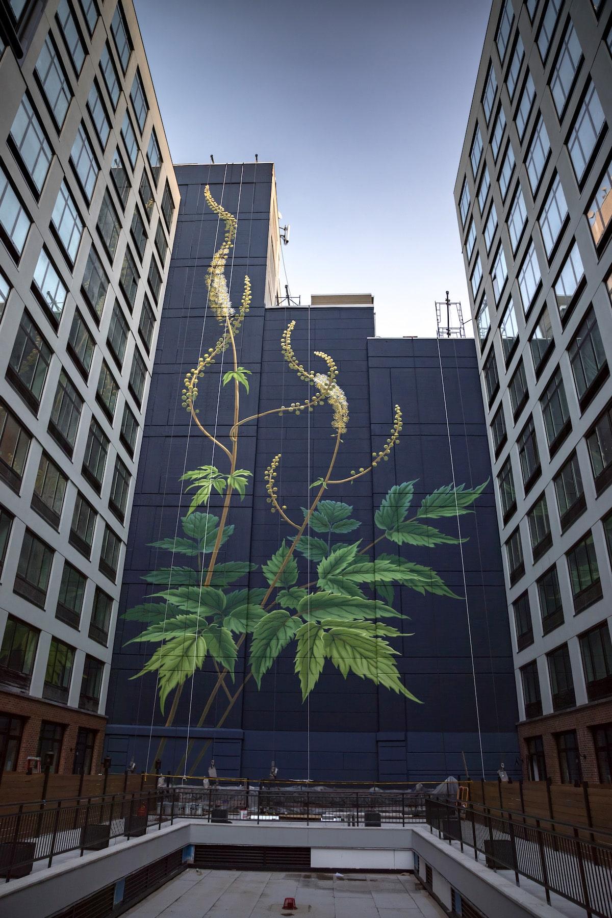 Mona Caron Flower Mural