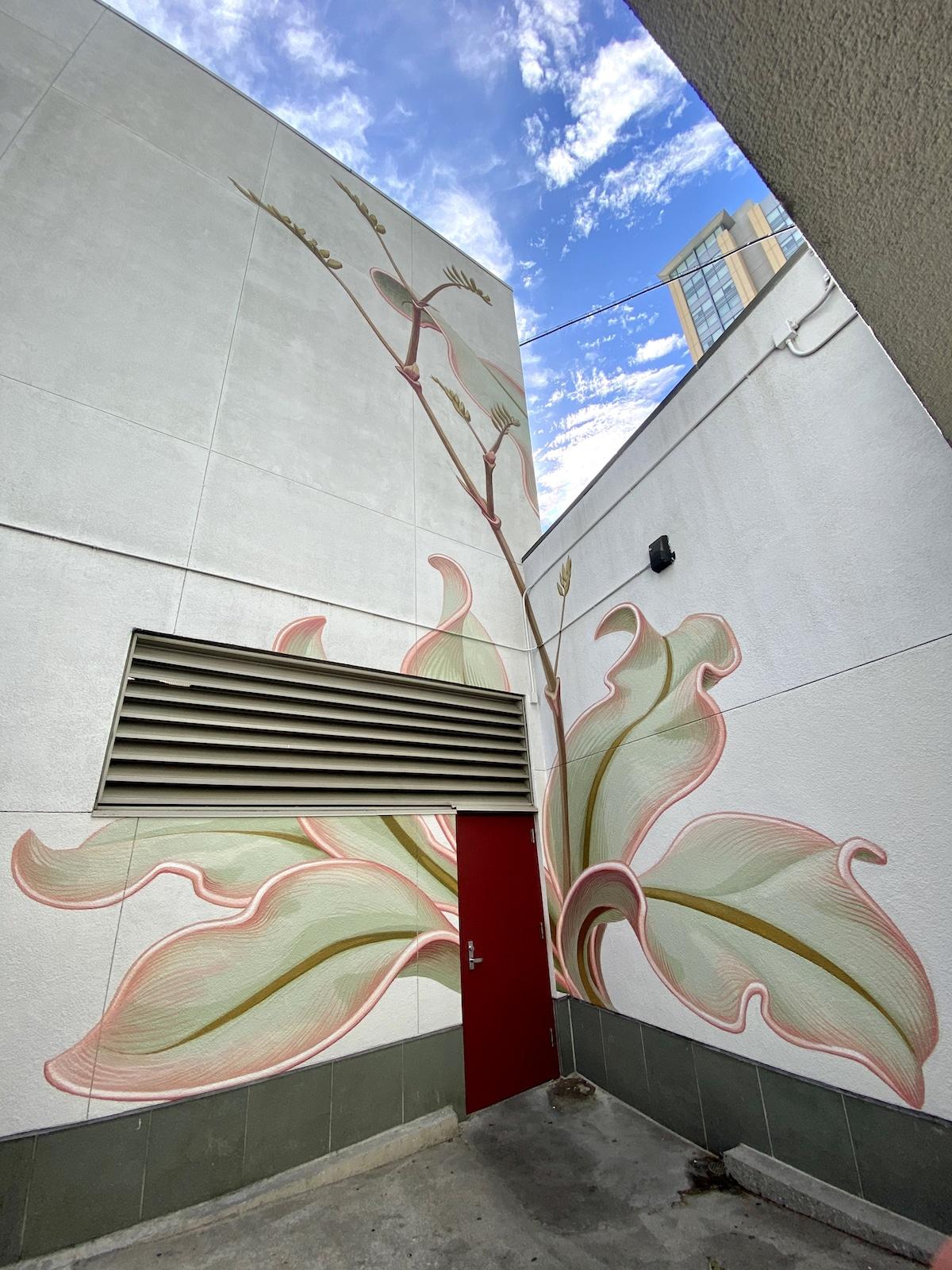 Flower Mural by Mona Caron