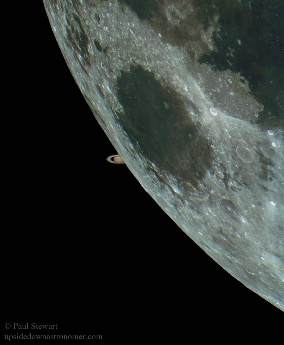 Saturn and the Moon by Paul Stewart