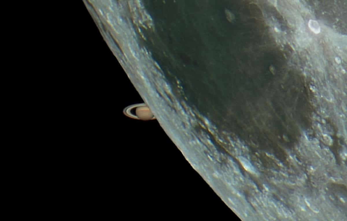 Saturn Moon Occultation by Paul Stewart