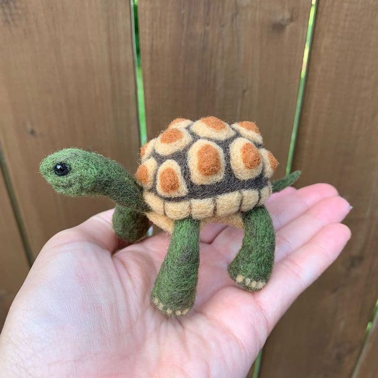 Needle Felted Turtle