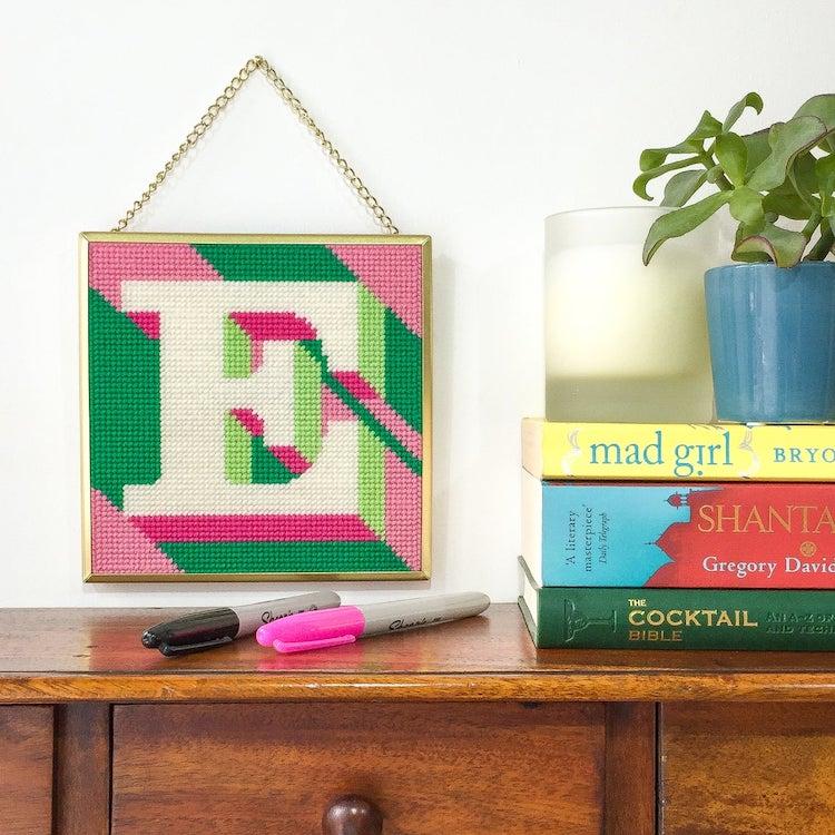 E Needlepoint Kit