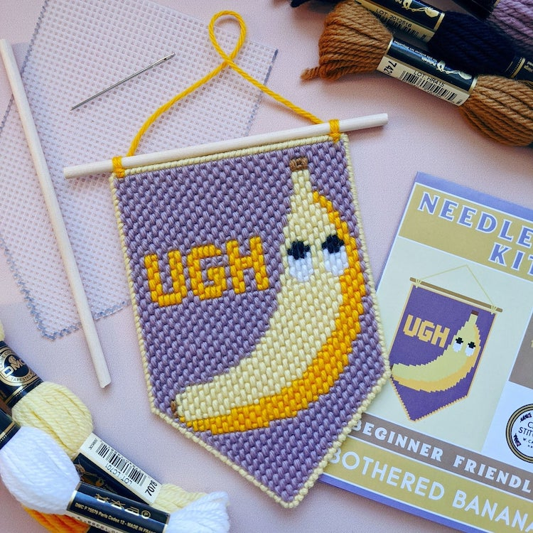 Bothered Banana Needlepoint Kit