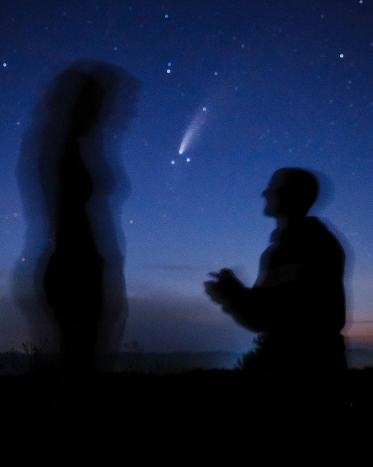 Propuesta de matrimonio del cometa Neowise