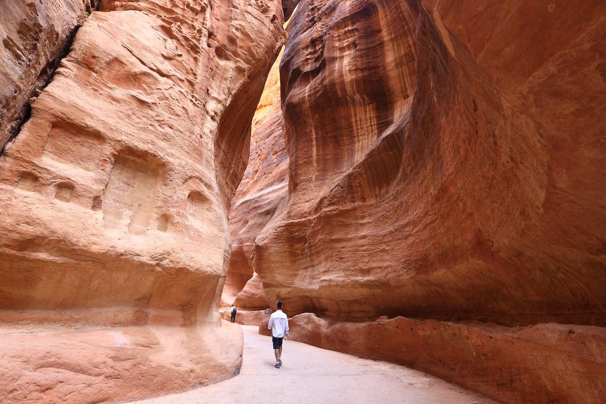 Siq en Petra