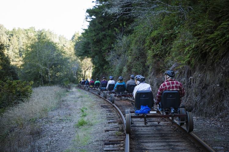 Redwood Forest Rail Bikes