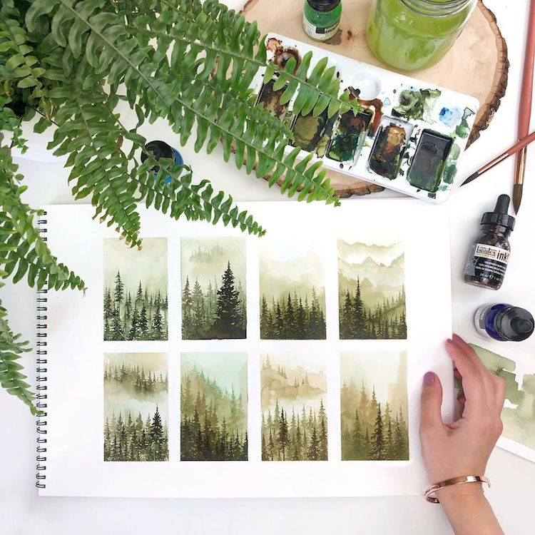 Watercolor Paintings by Rosie