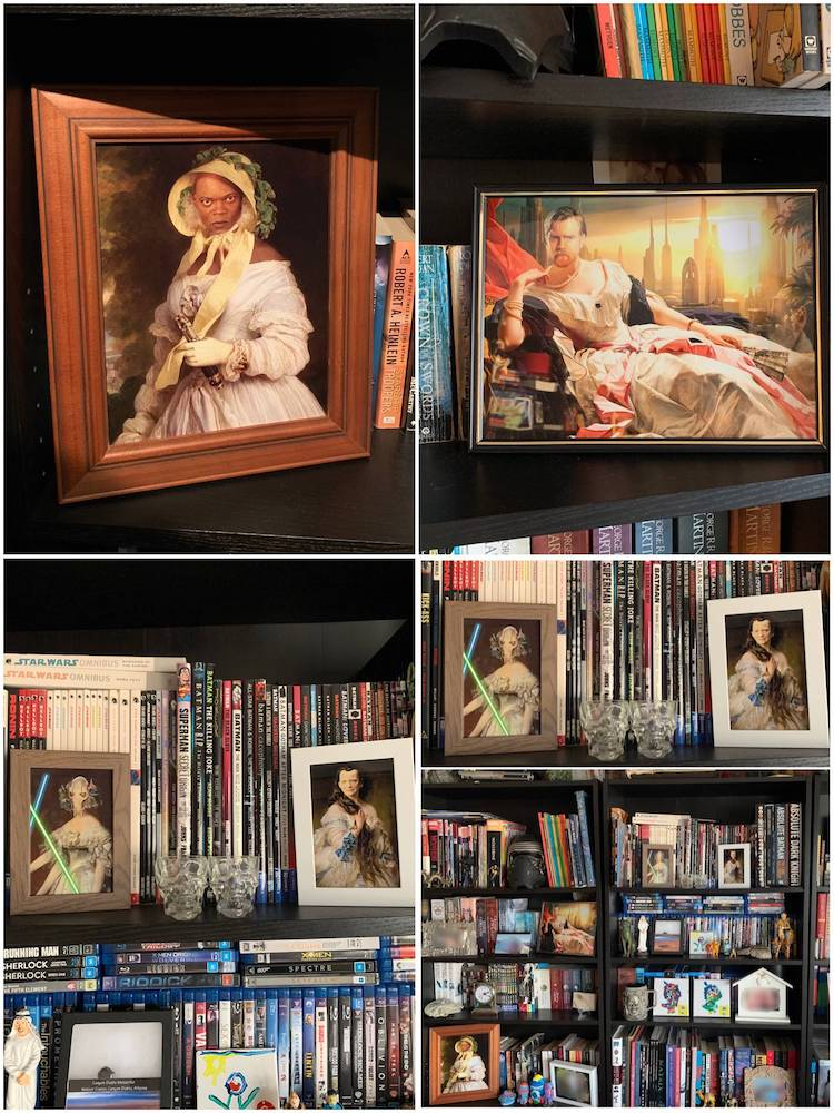 Star Wars Mash Up Art on a Bookshelf