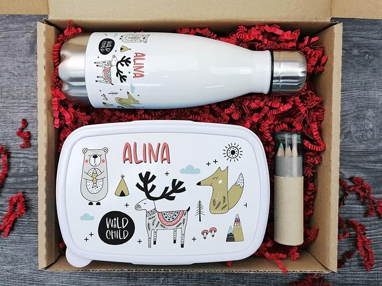 Children's Drinking Bottle With Lunch Box