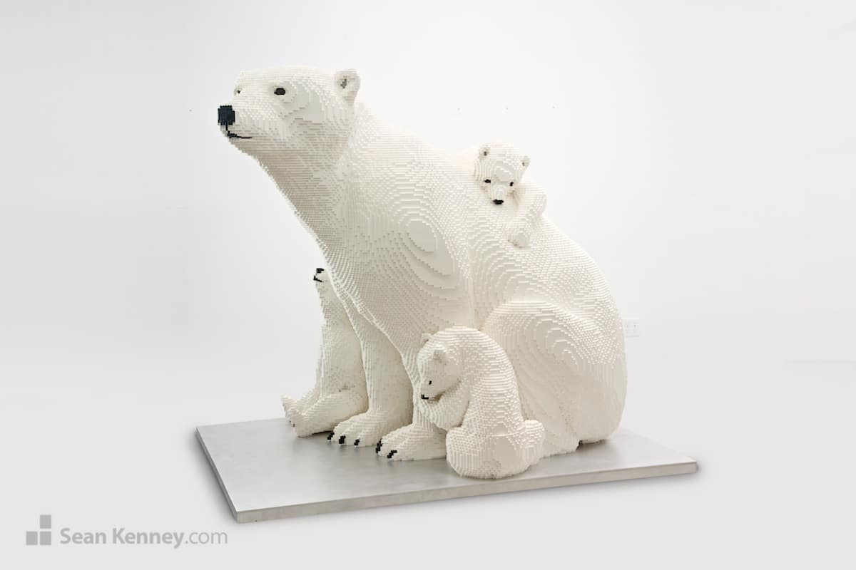 Mother Polar Bear and Cubs Sean Kenney