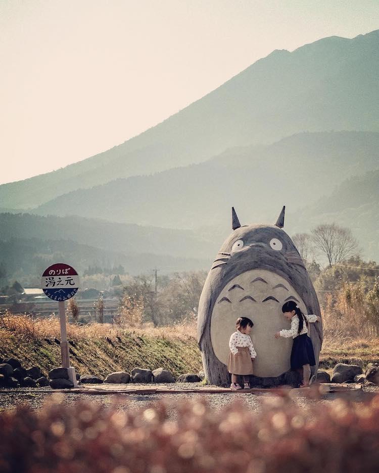 Parada de autobús de Totoro en Japón