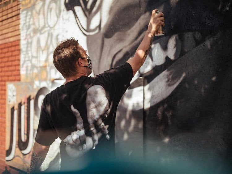 Malcom X Mural by Tristan Eaton