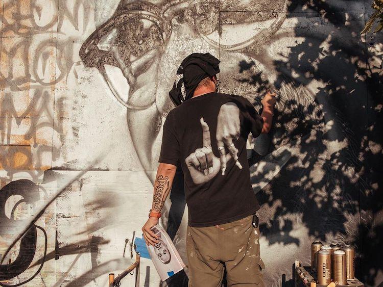 Malcom X Mural by Tristan Eaton