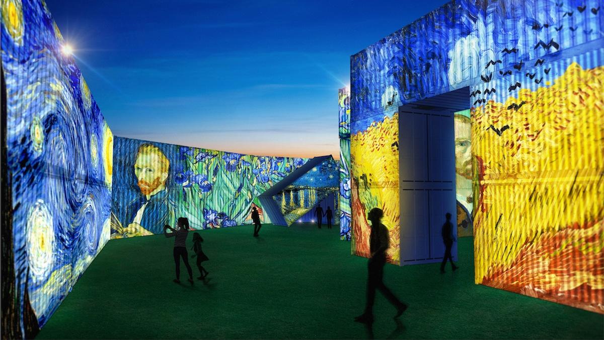 exposicion de Vincent Van Gogh Alive en Nueva Zelanda