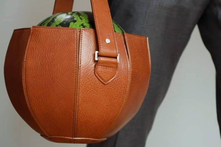 bolsa de cuero para sandia por Tsuchiya Kaban