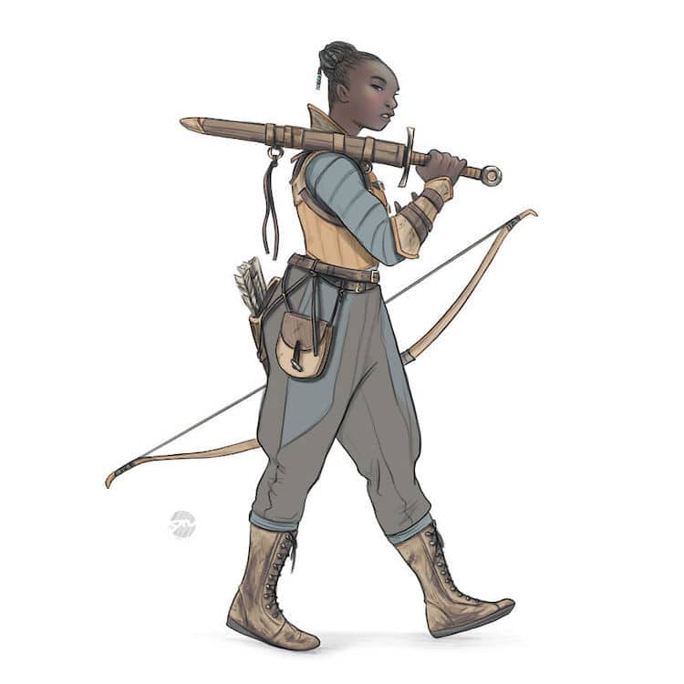 Woman Warrior Illustrations by Yael Nathan