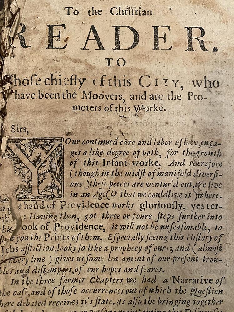 Book of Job 1656 typeface