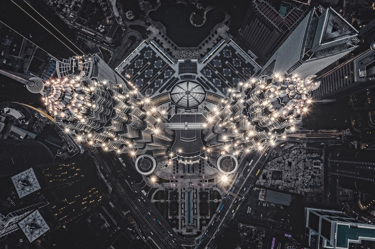 Aerial Photo of the Petronas Twin Towers