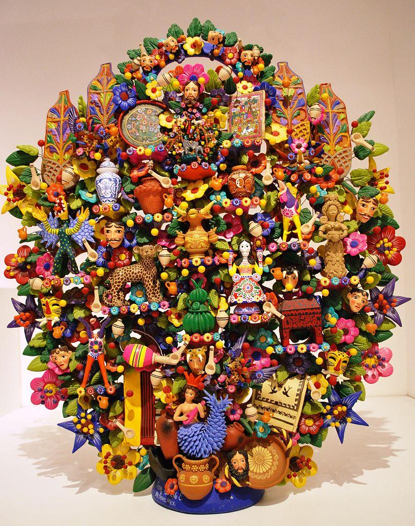 El árbol De La Vida Una Colorida Artesanía Que Fusiona Dos Culturas