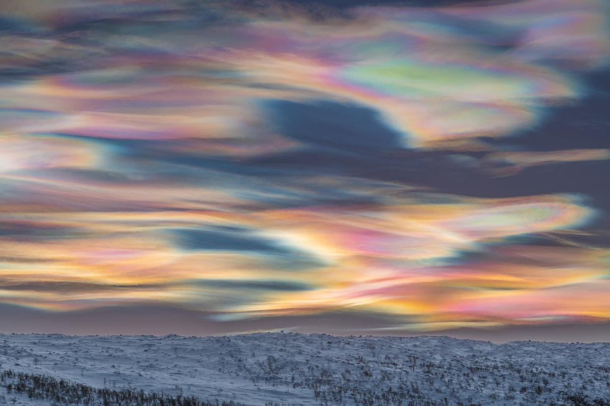 Rainbow Sky in Finnish Lapland