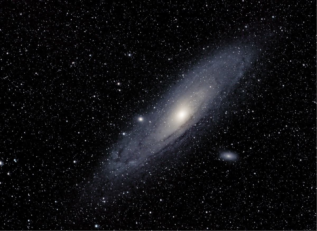 Andromeda Galaxy Over the Sequoia National Park