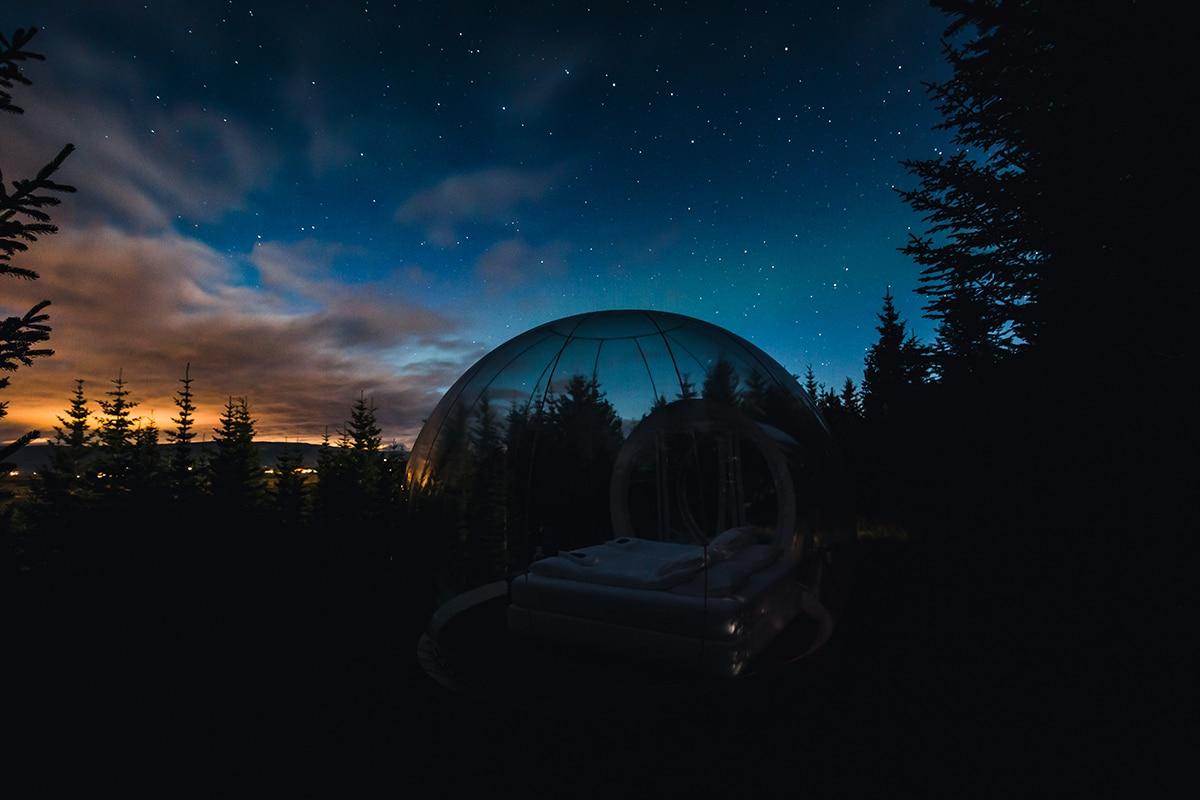 Buubble Hotel Iceland Under Stars