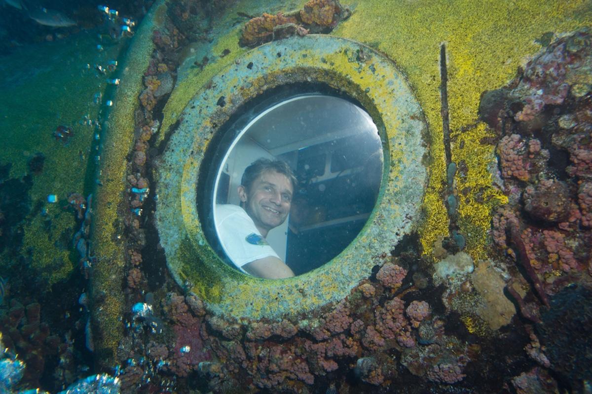 Fabien Cousteau en Aquarius