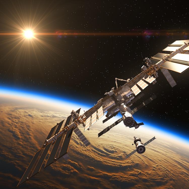 Foto de la Estación Espacial Internacional (EEI)
